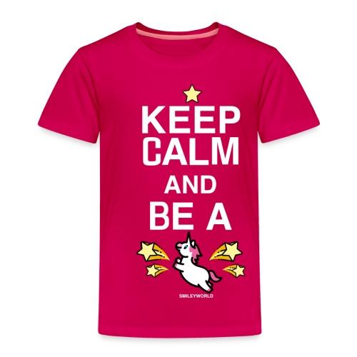 SmileyWorld Keep Calm And Be A Unicorn - Kinder Premium T-Shirt