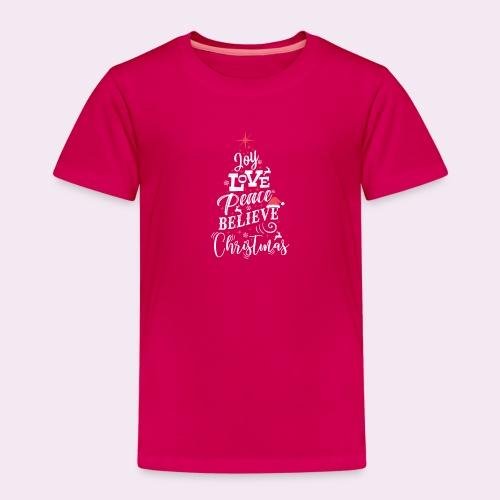 Merry Christmas Weihnachten Tannenbaum T-Shirt - Kinder Premium T-Shirt