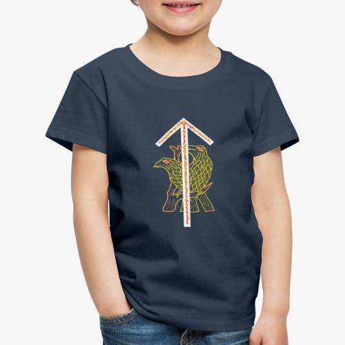 Rune Tiwaz + Hugin + Munin - Kinder Premium T-Shirt
