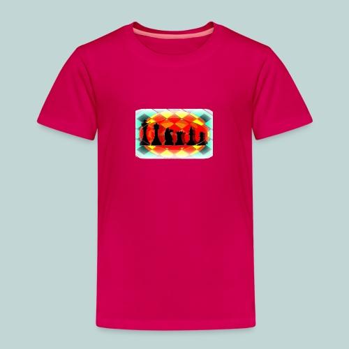 Schachfigurengruppe vignettiert - Kinder Premium T-Shirt