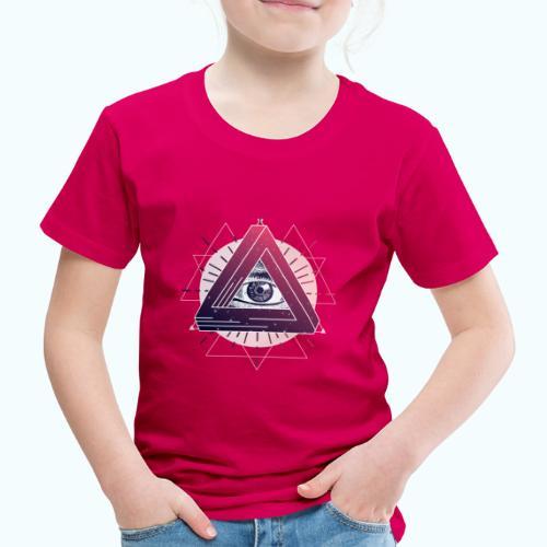 All-seeing eye triangle magic - Kids' Premium T-Shirt