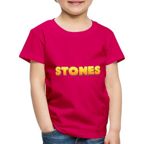 Stones - Premium-T-shirt barn