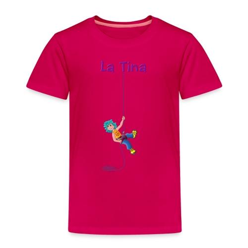 La Tina rapelant - Camiseta premium niño