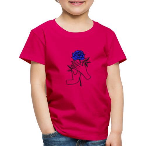 Fiore blu - Maglietta Premium per bambini