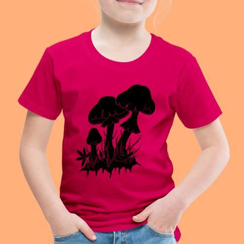 champignons noir et blanc - T-shirt Premium Enfant