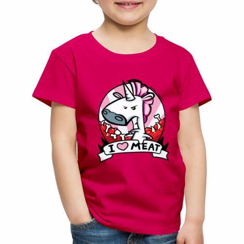 I love Meat by Nina-Nice - Kinder Premium T-Shirt