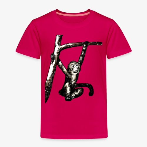 Swinging Monkey in Tree Wildlife T-Shirt - Kids' Premium T-Shirt