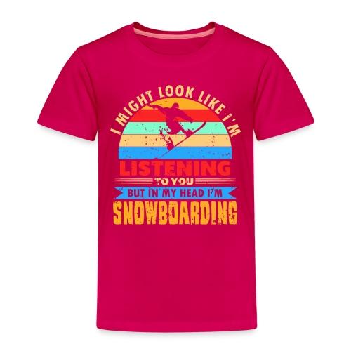 Im Kopf nur Snowboadring - Kinder Premium T-Shirt
