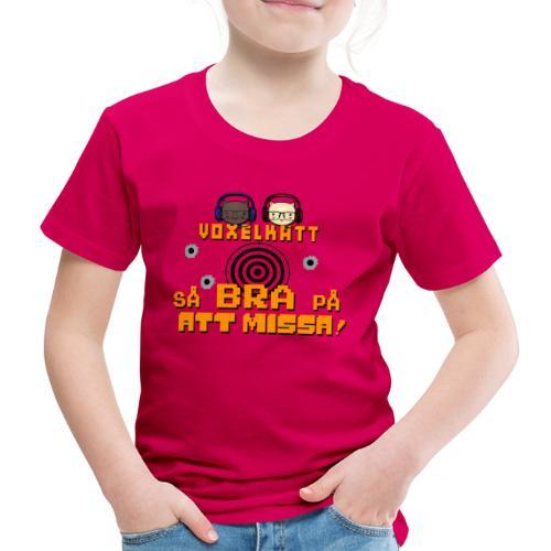 Voxelkatt BRA PÅ ATT MISSA - Premium-T-shirt barn