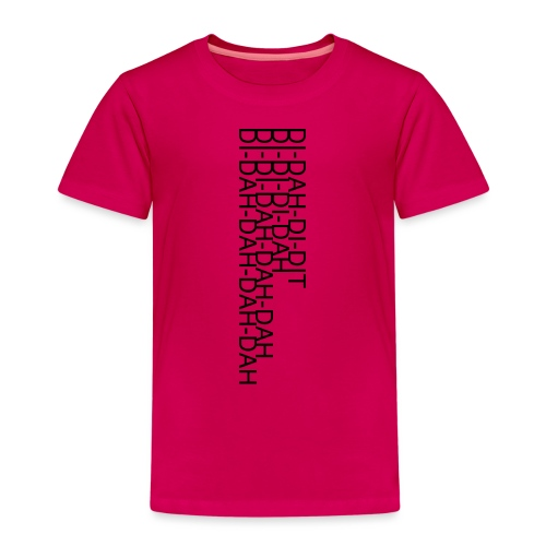 LV21 MORSE TEXT CLOSE VERT - Kids' Premium T-Shirt