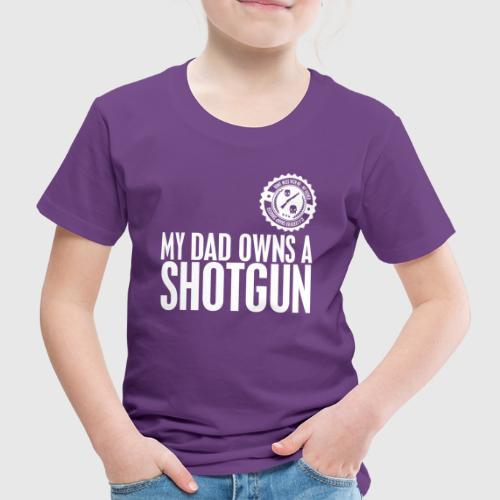 skull white png - Børne premium T-shirt