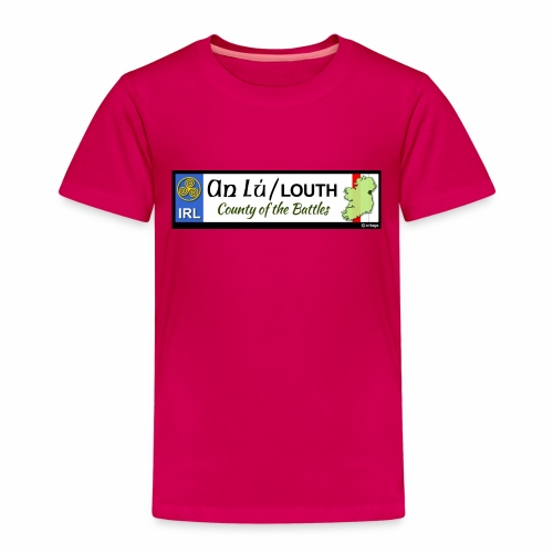 CO. LOUTH, IRELAND: licence plate tag style decal - Kids' Premium T-Shirt