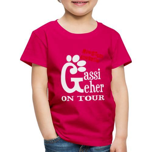 Gassigeher auf Tour - Langsam machen - Kinder Premium T-Shirt