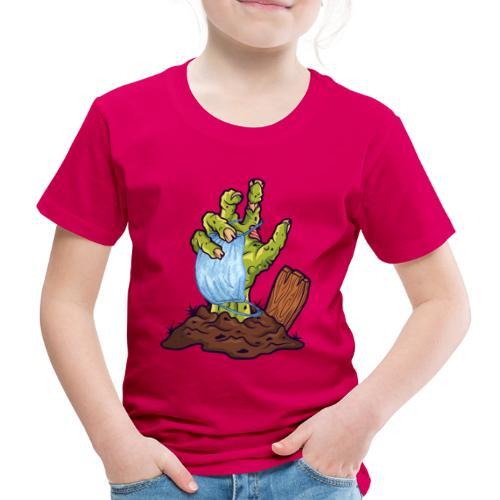 Horror Zombie Hand mit Mund Nasen Schutz - Kinder Premium T-Shirt