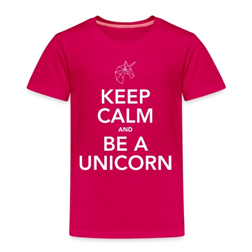 Keep calm and be a unicorn white - Kinderen Premium T-shirt