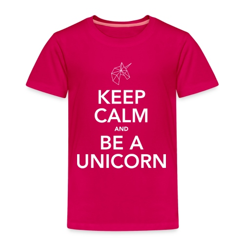Keep calm and be a unicorn white - Kinderen Premium T-shirt