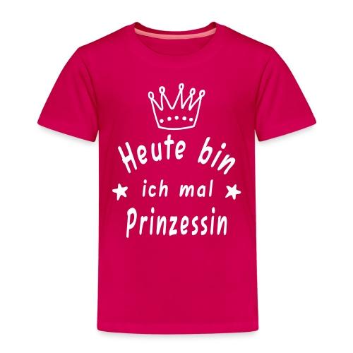 Heute mal Prinzessin, Krone, Geburtstag - Kinder Premium T-Shirt