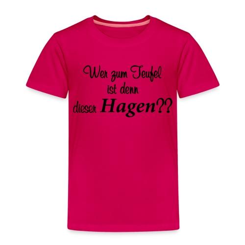 Wer zum Teufel - Kinder Premium T-Shirt