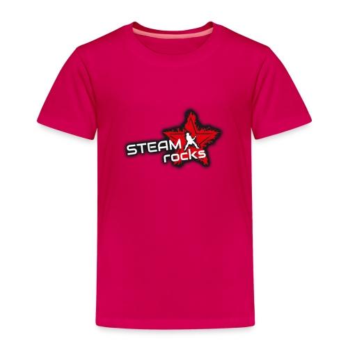 SteamRocks RGB WeisseSchrift aufTranzparenz 1000px - Kinder Premium T-Shirt