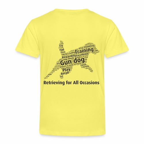 Retrieving for All Occasions wordcloud svart - Premium-T-shirt barn