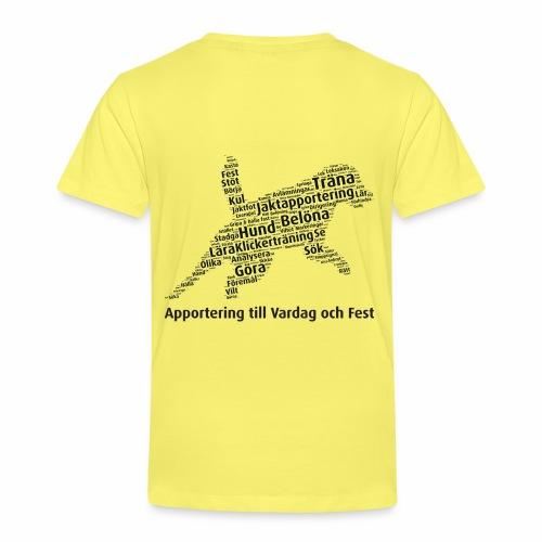 Apportering till vardag och fest wordcloud svart - Premium-T-shirt barn