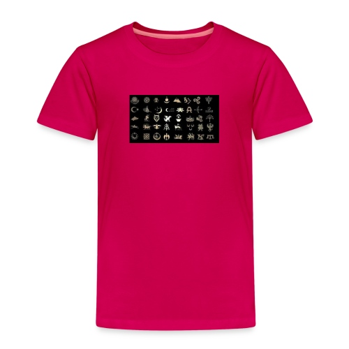 Turks Flag Symbols - Kinder Premium T-Shirt