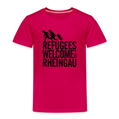 Refugees Welcome to Rheingau Pullover Front&Back - Kinder Premium T-Shirt