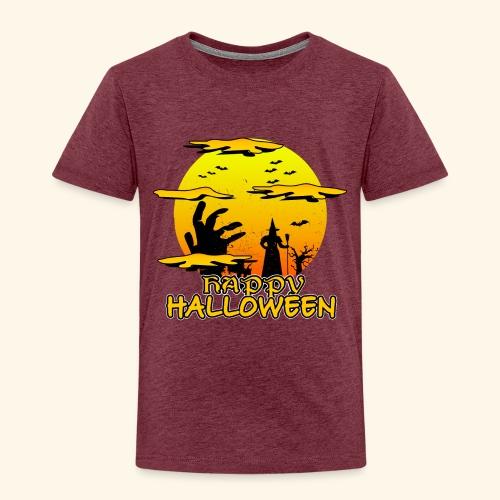 Halloween Hexe mit riesiger Hand - Happy Halloween - Kinder Premium T-Shirt