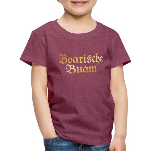 Boarische Buam - Bayerische Buben (Vintage/Gelb) - Kinder Premium T-Shirt