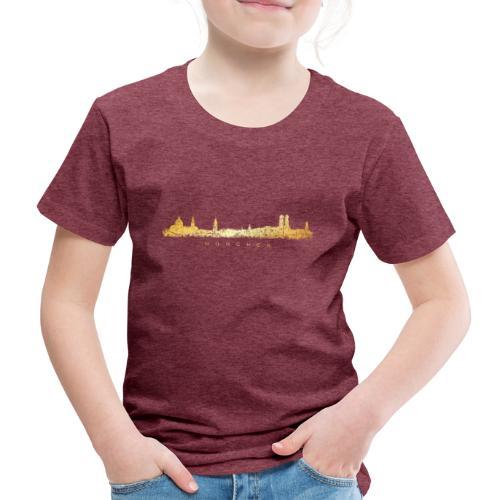 Münchener Skyline (Vintage/Goldgelb) München - Kinder Premium T-Shirt