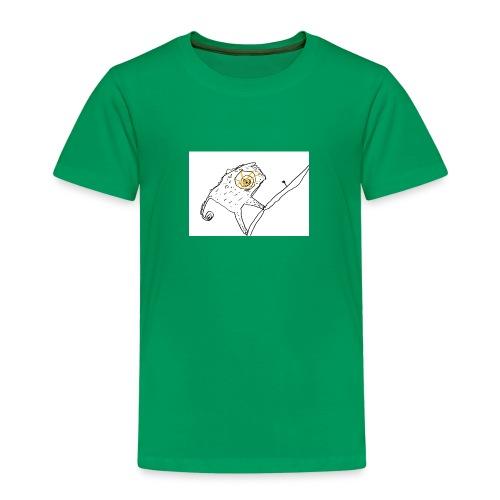 Camaleonte con fogliolina - Kids' Premium T-Shirt