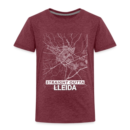 Straight Outta Lleida city map and streets - Kids' Premium T-Shirt