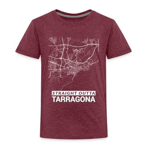 Straight Outta Tarragona city map and streets - Kids' Premium T-Shirt