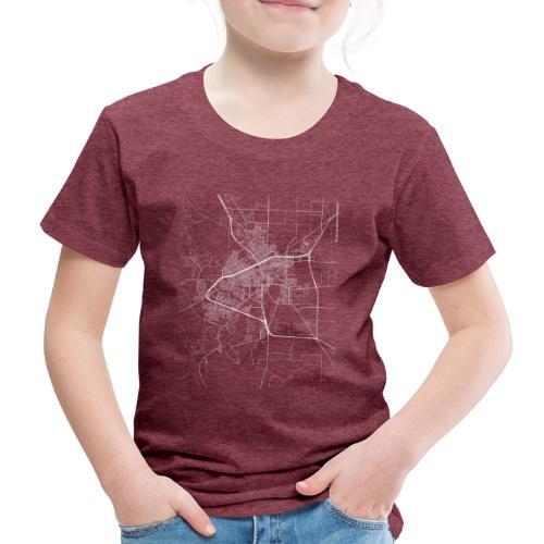 Minimal San Angelo city map and streets - Kids' Premium T-Shirt