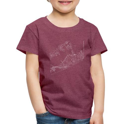 Minimal The Hamptons city map and streets - Kids' Premium T-Shirt