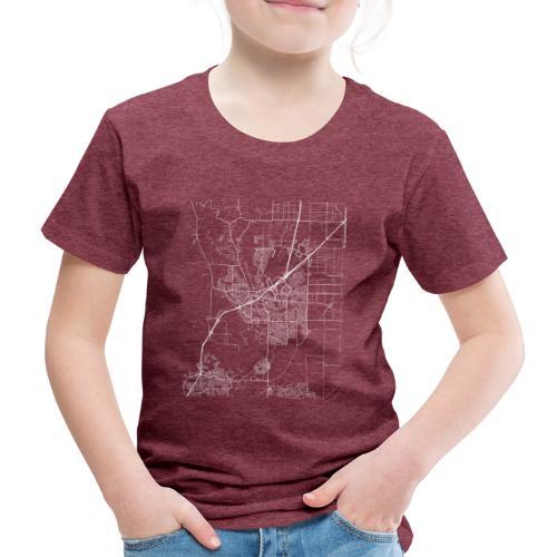 Minimal Vacaville city map and streets - Kids' Premium T-Shirt