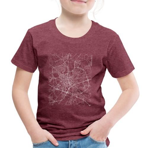 Minimal Ghent city map and streets - Kids' Premium T-Shirt