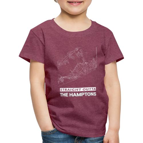 Straight Outta The Hamptons city map and streets - Kids' Premium T-Shirt