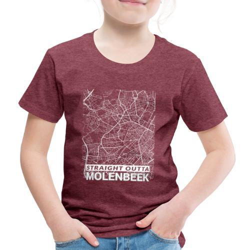 Straight Outta Molenbeek city map and streets - Kids' Premium T-Shirt