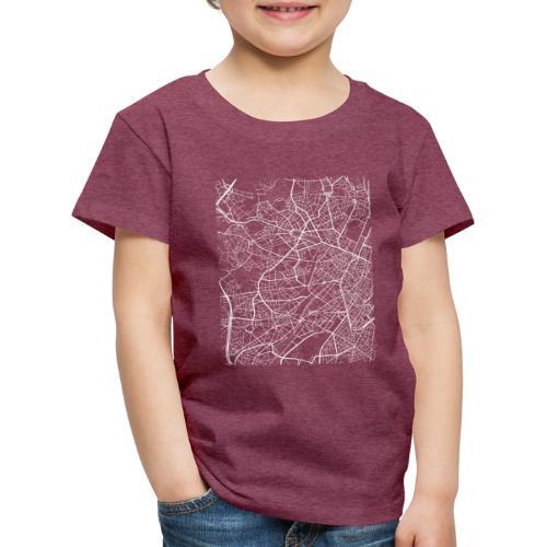 Minimal Molenbeek city map and streets - Kids' Premium T-Shirt