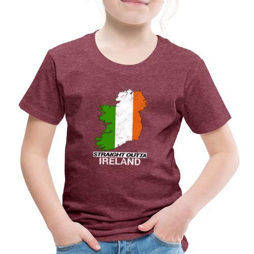 Straight Outta Ireland (Eire) country map flag - Kids' Premium T-Shirt