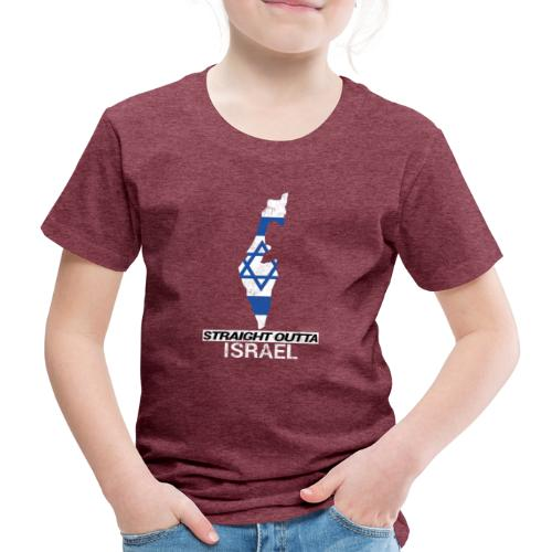 Straight Outta Israel country map & flag - Kids' Premium T-Shirt