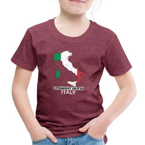 Straight Outta Italy (Italia) country map flag - Kids' Premium T-Shirt