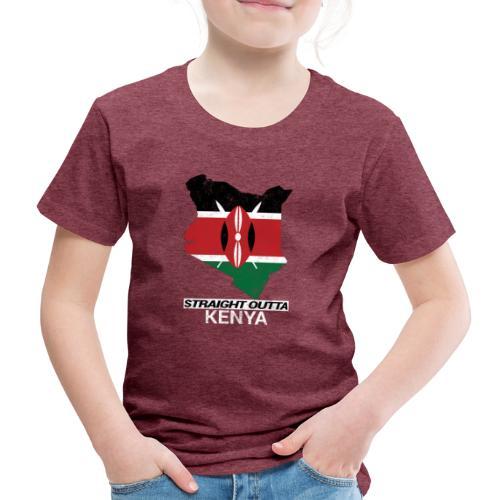Straight Outta Kenya country map & flag - Kids' Premium T-Shirt
