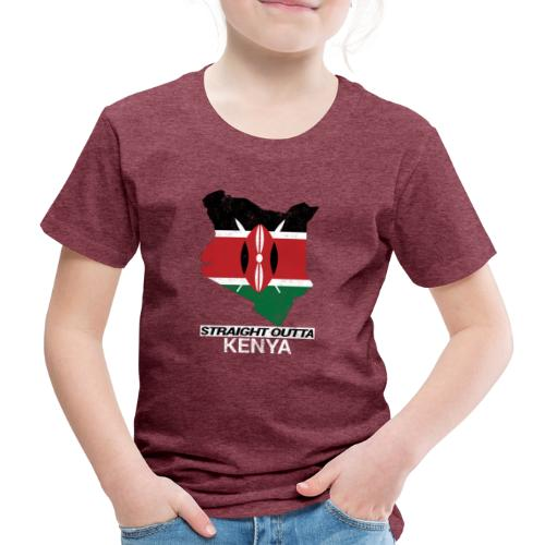 Straight Outta Kenya country map & flag - Kids' Premium T-Shirt