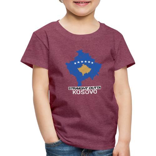 Straight Outta Kosovo country map - Kids' Premium T-Shirt