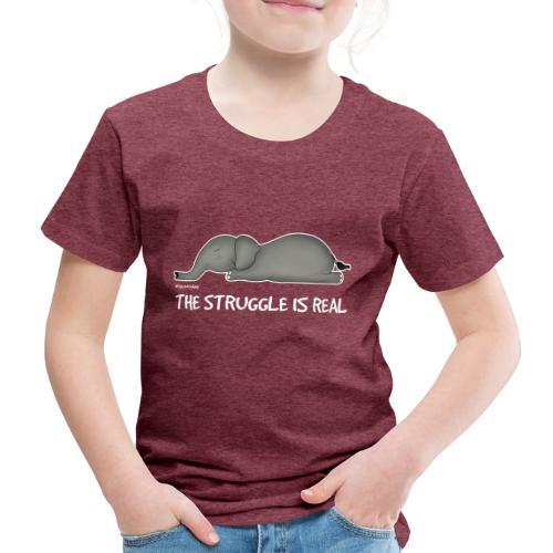 Amy's 'Struggle' design (white txt) - Kids' Premium T-Shirt