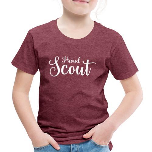 Proud Scout Lettering White - Kinder Premium T-Shirt
