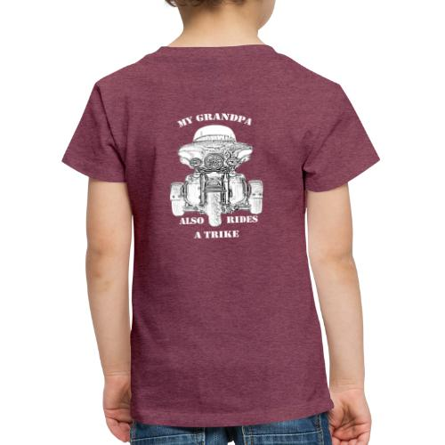 Trike grandpa - Premium T-skjorte for barn