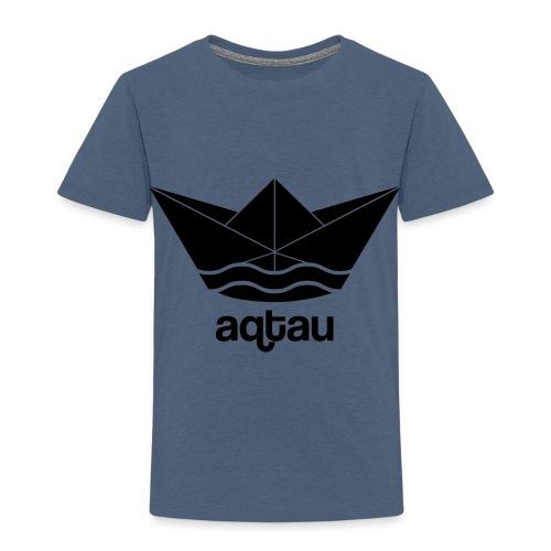 Aqtau Papierschiff Kasachtan Design - Kinder Premium T-Shirt